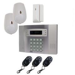 Privatalarmer - Alarm med indbygget GSM modul. uden mdr. opkr�vning vagtaftale kan tilk�bes
